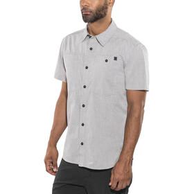 Black Diamond Chambray Modernist Bluzka z krótkim rękawem Mężczyźni szary